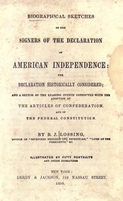 Cover of: Biographical sketches of the signers of the Declaration of American independence