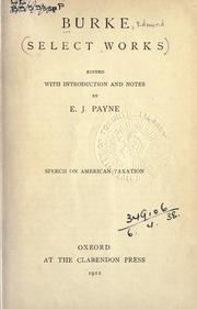 Cover of: Speech on American taxation