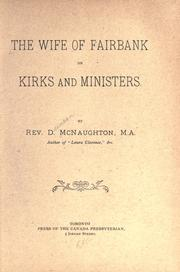 Cover of: The wife of Fairbank on kirks and ministers