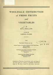 Cover of: Wholesale distribution of fresh fruits and vegetables