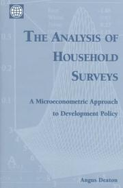 Cover of: The analysis of household surveys | Angus Deaton