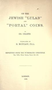 "Cover of: On the Jewish ""lulab"" and ""portal"" coins"