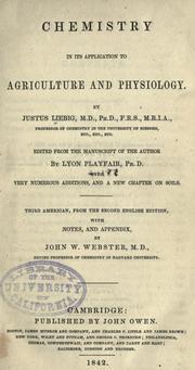 Justus von Liebig libro
