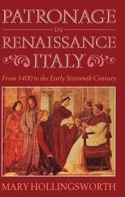 Cover of: Patronage in Renaissance Italy: from 1400 to the early sixteenth century