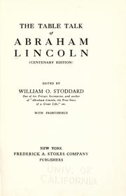 Cover of: The table talk of Abraham Lincoln
