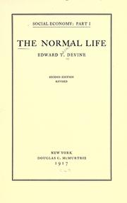 Cover of: The normal life