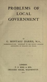 Cover of: Problems of local government