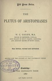 Cover of: The  Plutus of Aristophanes: acted at Athens in the year B.C. 388