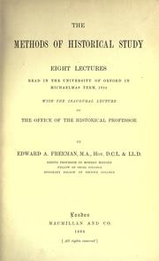 Cover of: The methods of historical study