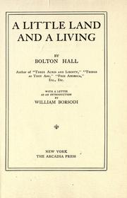 Cover of: A little land and a living