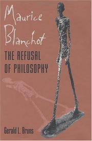 Maurice Blanchot by Gerald L. Bruns