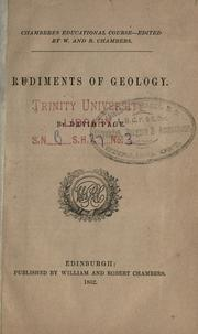 Cover of: Rudiments of geology