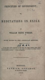 Cover of: Principles of government
