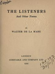 Cover of: The listeners, and other poems