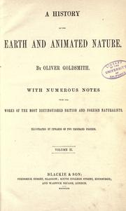 A history of the earth and animated nature by Goldsmith, Oliver