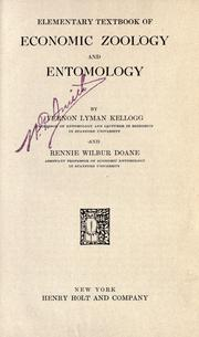 Cover of: Elementary textbook of economic zoology and entomology