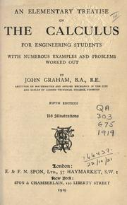 Cover of: An elementary treatise on the calculus for engineering students, with numerous examples and problems worked out