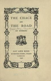 Cover of: The chace and the road