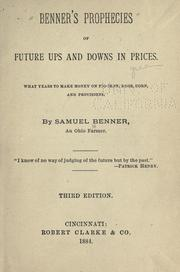 Cover of: Benner's prophecies of future ups and downs in prices