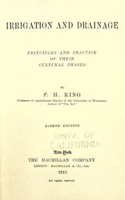 Irrigation and drainage by F. H. King