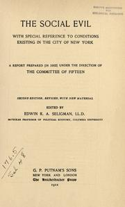 Cover of: The social evil | Committee of Fifteen (New York, N.Y. : 1900)