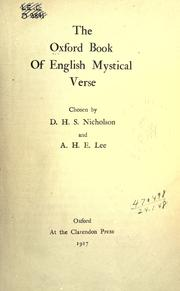 Cover of: The Oxford book of English mystical verse by