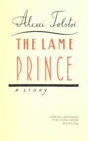 Cover of: The lame prince: a story.  [Translated from the Russian]