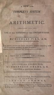 Cover of: The new complete system of arithmetic