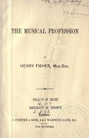 Cover of: The musical profession