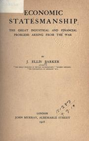 Economic statesmanship by Barker, J. Ellis
