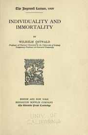 Cover of: Individuality and immortality