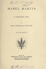 Cover of: Mabel Martin: a harvest idyl