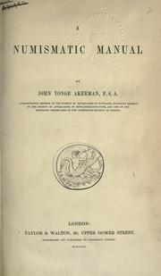 Cover of: A numismatic manual