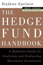 Cover of: The Hedge Fund Handbook | Stefano Lavinio