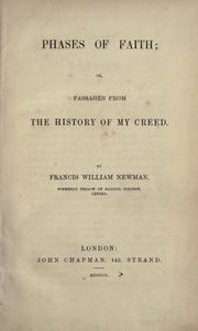Phases of faith by Francis William Newman