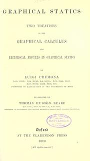 Cover of: Graphical statics