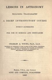 Cover of: Lessons in astronomy including uranography