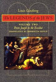 Cover of: The Legends of the Jews | Louis Ginzberg
