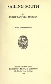 Cover of: Sailing south | Marden, Philip Sanford