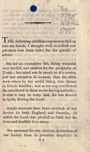 Cover of: Some account of the life and religious exercises of Mary Neale, formerly Peisley