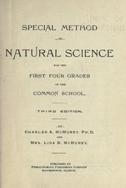 Cover of: Special method in natural science for the first four grades of the common school