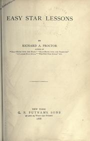 Cover of: Easy star lessons | Richard A. Proctor