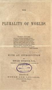 Cover of: The plurality of worlds ..