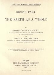 Cover of: The earth as a whole