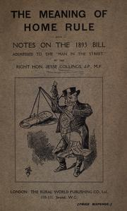 Cover of: The meaning of home rule