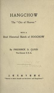 Cover of: Hangchow by Frederick D. Cloud
