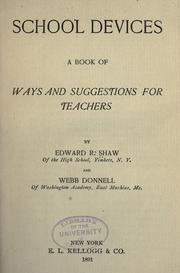 Cover of: School devices