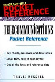 Cover of: Telecommunications Pocket Reference | Travis Russell