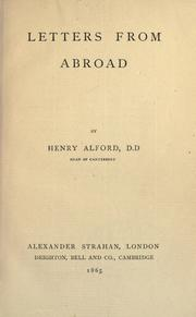 Cover of: Letters from abroad