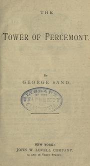 Cover of: The tower of Percemont